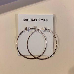 Michael Kors rose gold hoop earrings NWT
